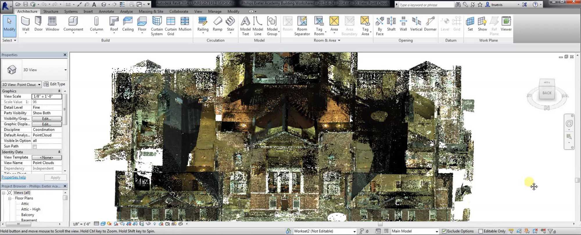 Use of 3D BIM Model and 3D Laser Scanner in Facilities